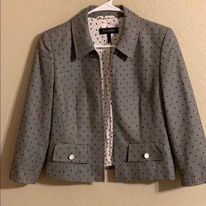 Escada polka dot cropped blazer size 36/6